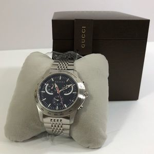 Authentic Gucci Silver Stainless-Steel Watch
